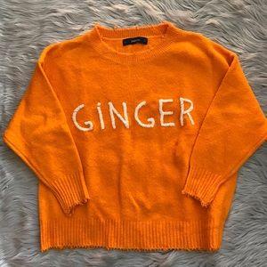 NWOT Zara Ginger Sweater Sz S
